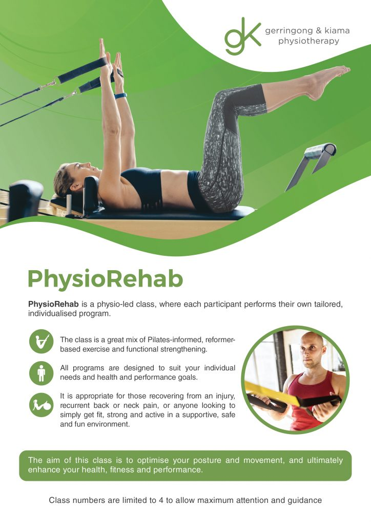 Image of PhysioRehab group exercise class brochure
