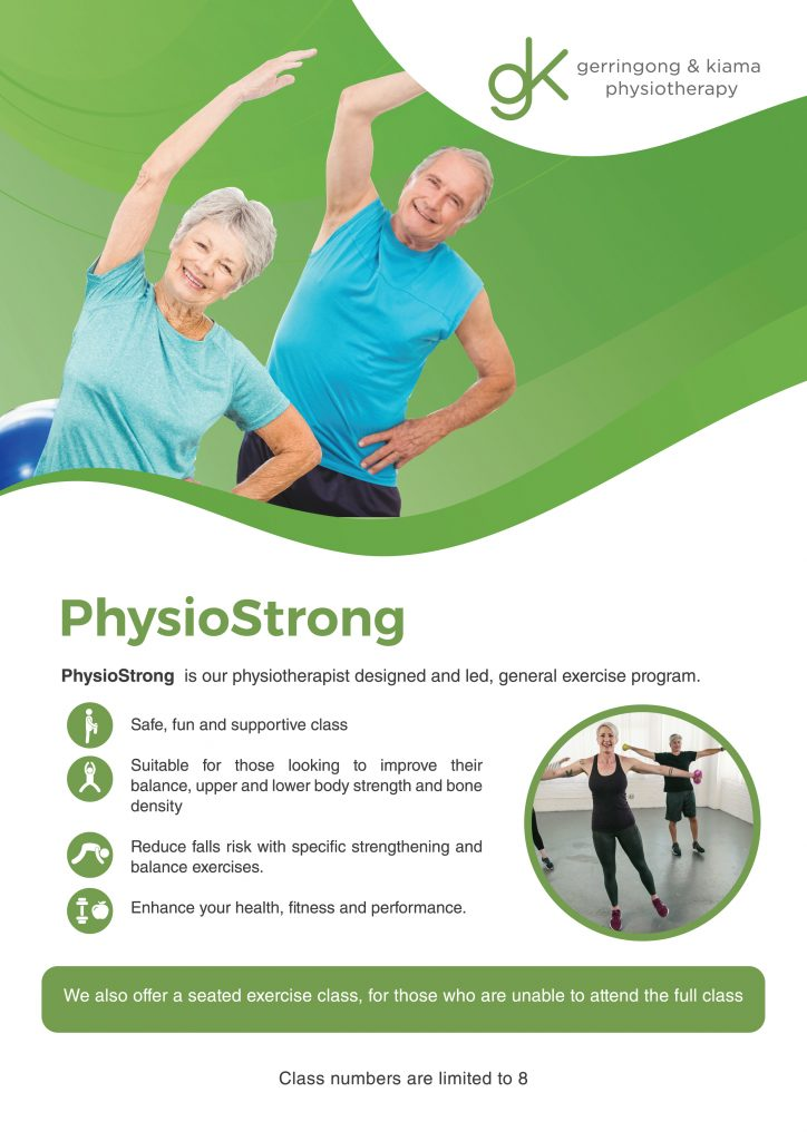 Image of PhysioStrong group exercise class brochure