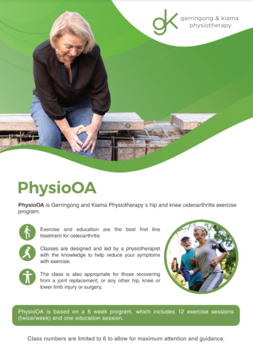 Image of PhysioOA group exercise class brochure