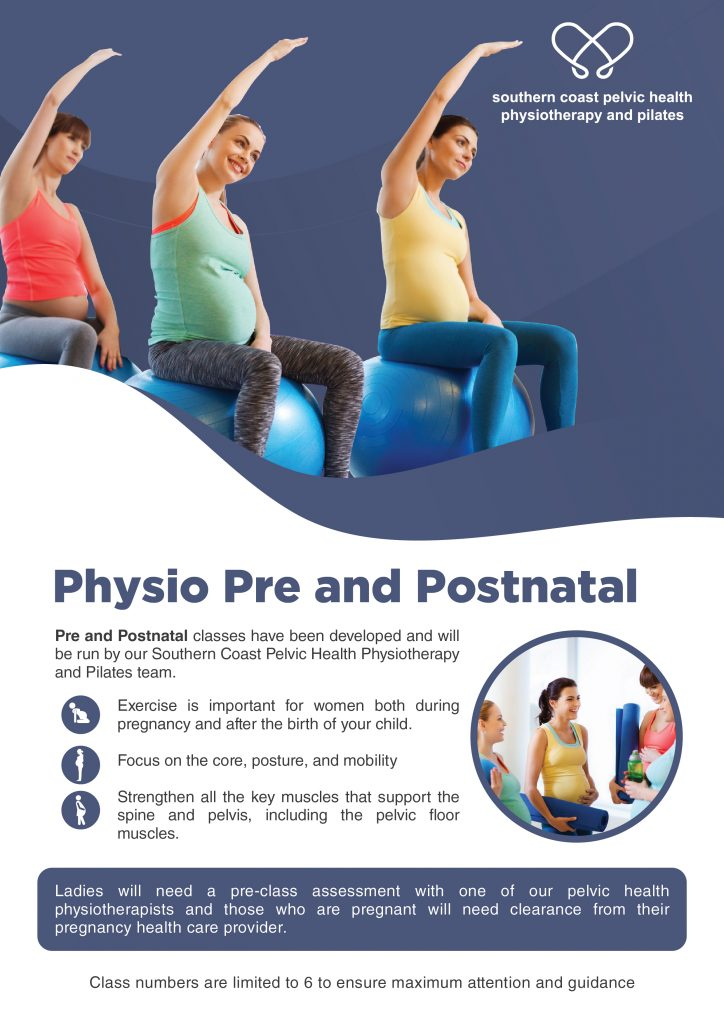 Image of Physio Pre & Postnatal group exercise class brochure