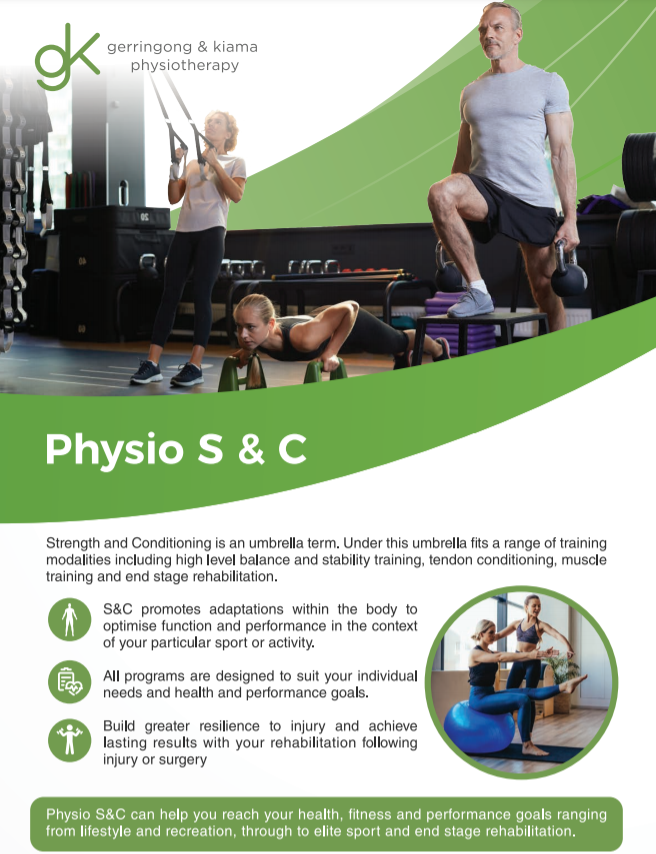Image of Physio S&C group exercise class brochure