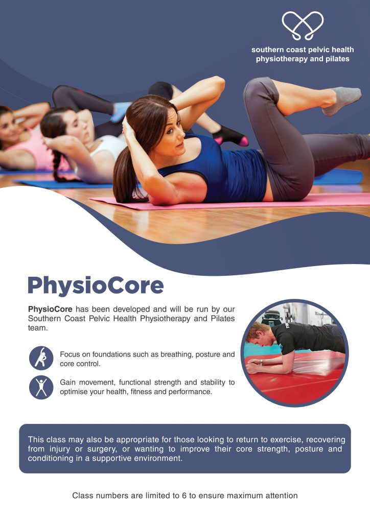 Image of PhysioCore group exercise class brochure